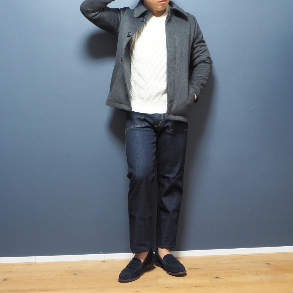 低身長男性のためのステンカラーコート XSサイズ