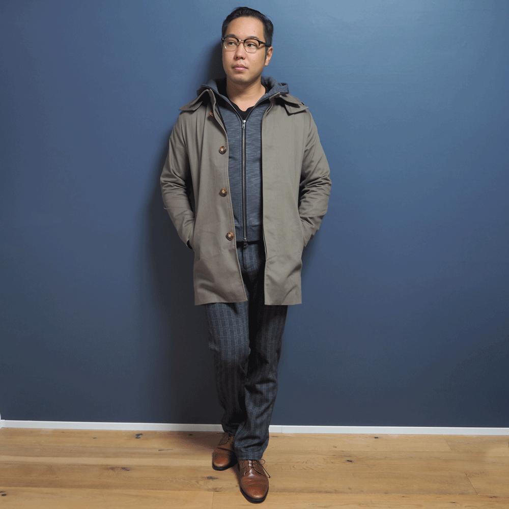 低身長男性 スプリングコート