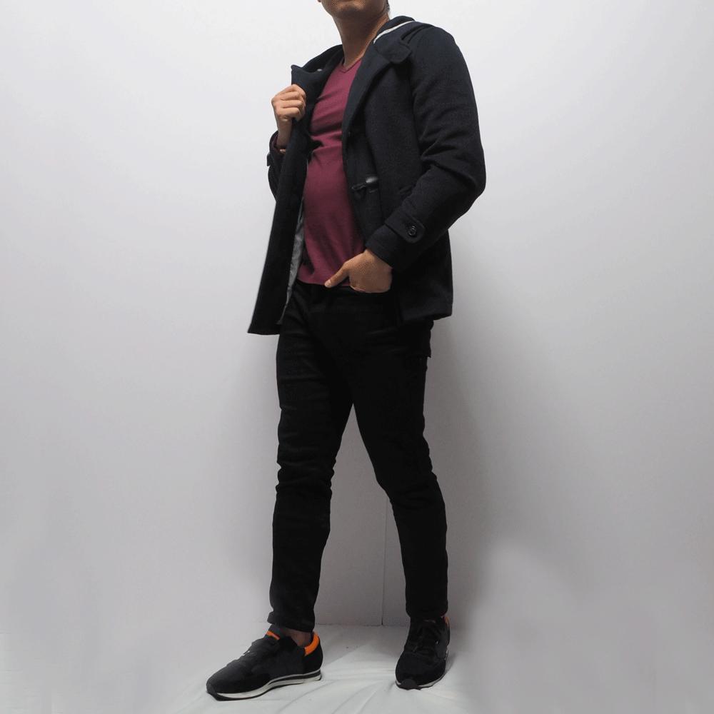 低身長男性向けのダッフルコート XSサイズ
