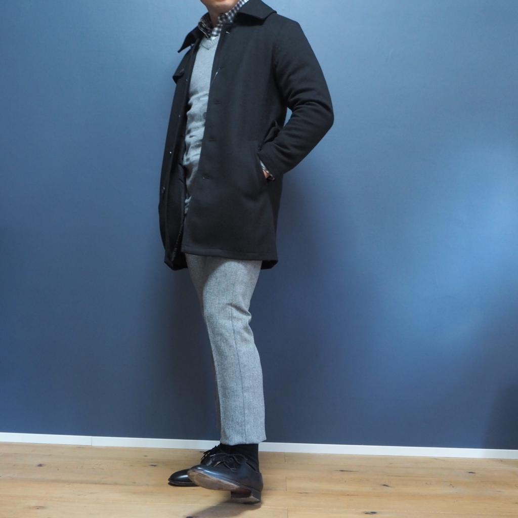 低身長男性向けのツイル調起毛シングルトレンチコート XSサイズ