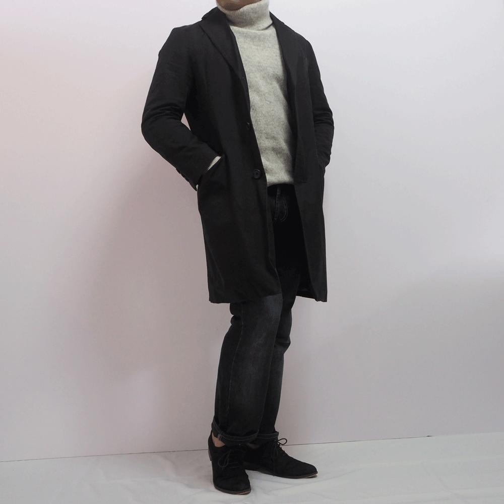 低身長男性 タートルネックセーター