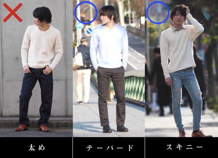 セーターとパンツの関係