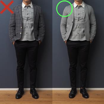低身長男性 クレリックシャツ 着こなしポイント