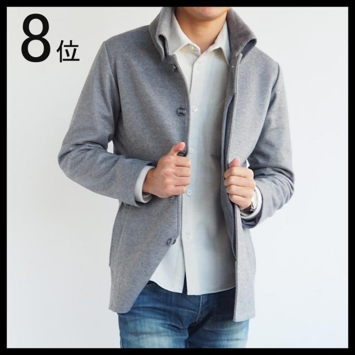 8位 返し襟コート 低身長