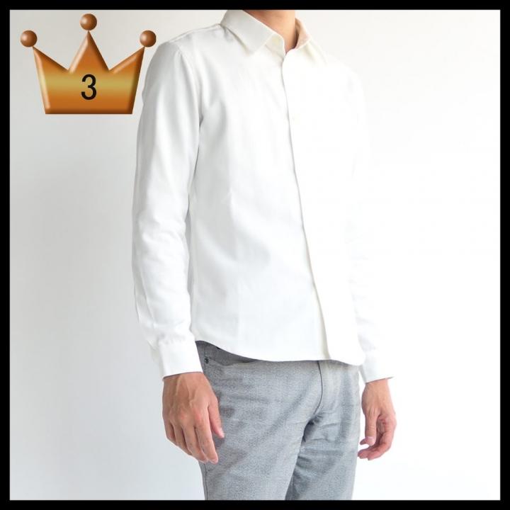 3位 オックスシャツ 低身長