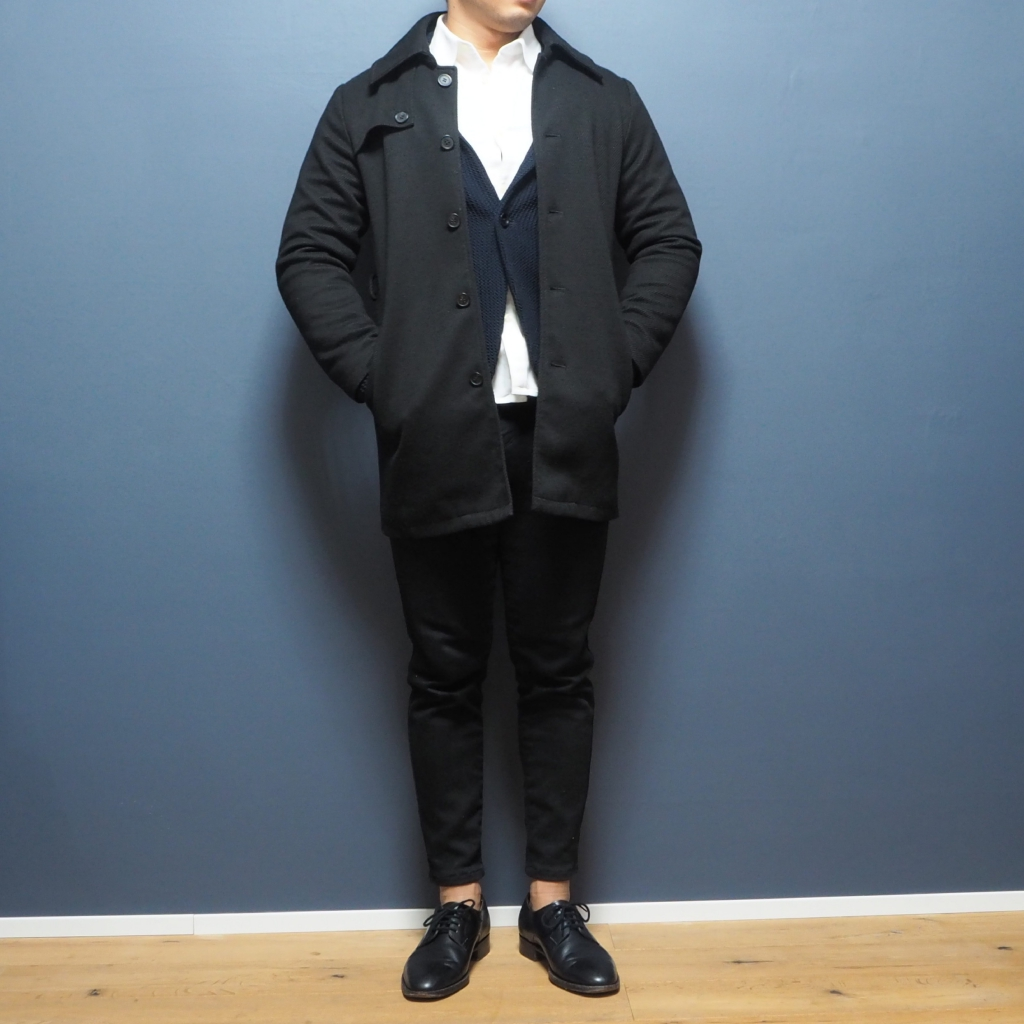 XSサイズのツイル調起毛シングルトレンチコート 低身長男性