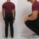 最近のパンツはシュッとして穿けません(159cm・53kg)