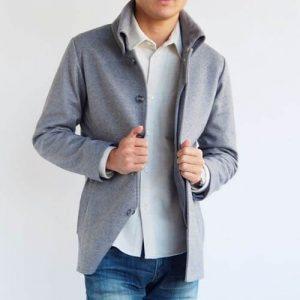 小柄・低身長な男性向けXSサイズの返し襟コート