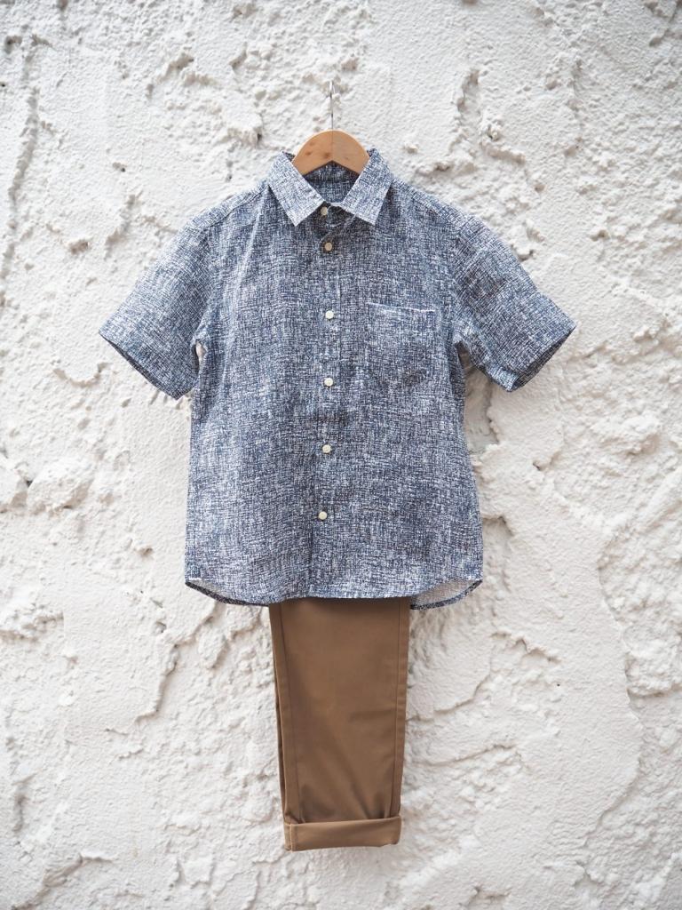 低身長 リネンシャツ
