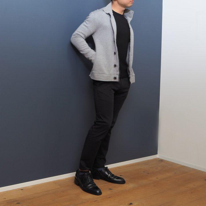 低身長 スタンドカラーカーディガン