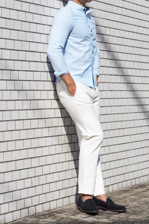 低身長男子 白パンツ
