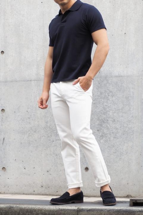 低身長 白パンツ